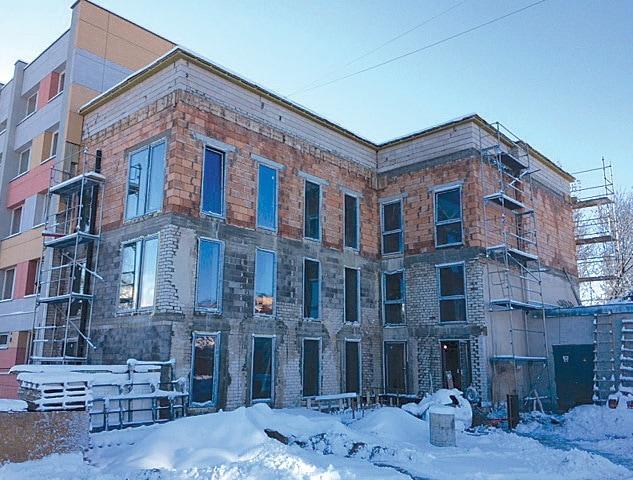 pastato rekonstrukcija ir nauja statyba